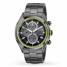 New Citizen Men's Eco-Drive HTM 2.0 Black IP Chronograph Watch CA0435-51E