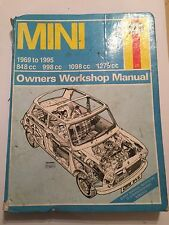 MINI HAYNES WORKSHOP MANUAL Inc' 850 clubman GT cooper & s van city hl 1969-1995
