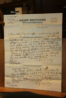 Antique Horse Sale Letter Sharp Brothers Merchants Caryville Tenn HH Weir