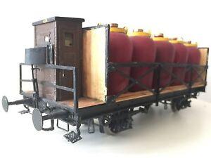 Freight Car Acid Tank Wagon Gauge 1 Brass Handycraft Model For Märklin Kiss KM1