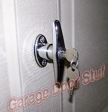 "Garage Door Lock "" T "" HANDLE ASSEMBLY- KEYED"