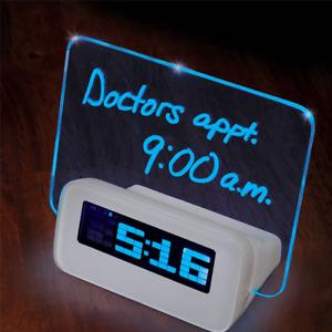 Scribble Alarm Clock - Message Glows When Alarm Sounds