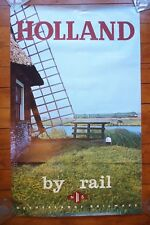 Holland By Rail Netherlands Railways Original Railway Travel Poster