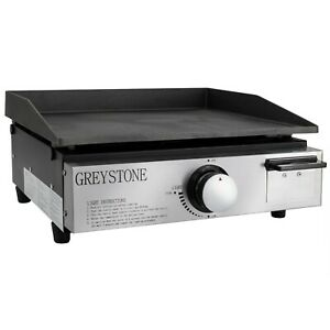 RV Gas Cooktop Flat Top Grill with Cast Iron Cooking Plate