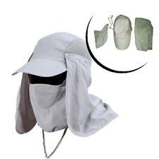 Gorra con Protección de la Cara Cuello Exterior contra el Sol Safari Cap