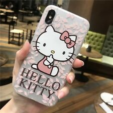 Hello Kitty Soft Silicone Matte Case Cover for iPhone 6 6S 7 8 X XS C0059