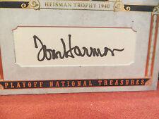 National Treasures Michigan 1940 Heisman Cuts Autograph Tom Harmon 09/13  2008
