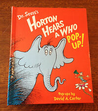 Rare Signed DR SEUSS'S HORTON HEARS A WHO POPUP BOOK! 1st/1st David Carter!