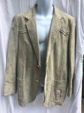Sheplers Western Wear Grey Suede Sport Coat Suit Jacket Size 42L