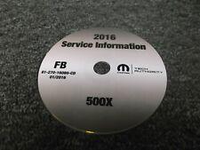 2016 Fiat 500X Shop Service Manual CD Pop Easy Trekking Plus Lounge 1.4L 2.4L