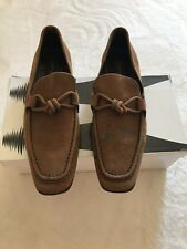 $950 Louis Vuitton Brown Suede Leather Loafers Shoe Lv 8.5 Us 9.5 Uk 8.5 Eu 42.5