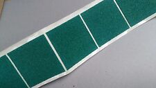 10 -  75mm GREEN FELT BAIZE - SQUARE- self adhesive - protect, craft, cover