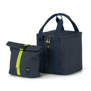 BMW Active Cooler Bag Set Lunch Bag Blue / Lime - New and Original