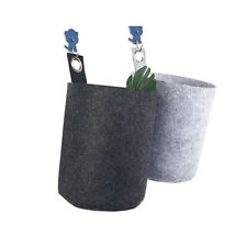 Flower Grow Bag Hanging Holder Gray Simple Waterproof 1pc Storage Plant Pouch KS