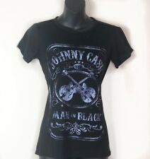 FREE GIFT - HEY ZION AND JOHNNY CASH Shirt Small Man In Black Short Sleeve