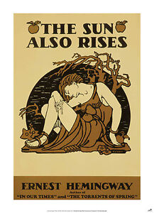 THE SUN ALSO RISES New Poster of Classic Hemmingway Book Cover (A1 Size)
