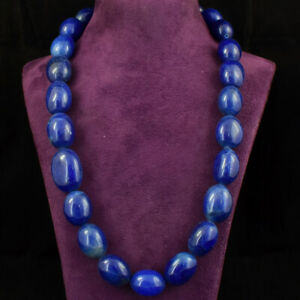954.00 Cts Earth Mined 20 Inches Long Blue Sapphire Beads Necklace JK 38E228