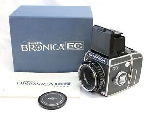 [ Near Mint ] Zenza Bronica EC 6x6 Caméra Avec / Nikkor-P 75mm F/2.8 Lentille De