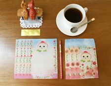 Kawaii Cute Jetoy 6 Writing Papers & 3 Envelopes Letter Set- Peach
