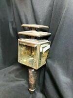 Victorian Carriage Lantern Light Buggy Cart Antique Brass Iron Glass Vtg.