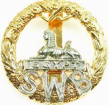 SWB SOUTH WALES BORDERERS CLASSIC GENUINE REGIMENTAL CAP BADGE