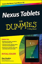 NEW Nexus Tablets For Dummies by Dan Gookin
