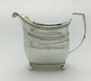 1806 Fine Georgian English Sterling Silver Creamer Jug Peter & William Bateman