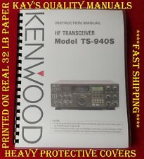 High Quality Kenwood Ts-940S Instruction Manual on 32Lb w/The Heavier Covers!