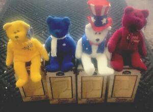 1990's Limited Treasures Bears Sam, Gordon, Elvis, Sherlock