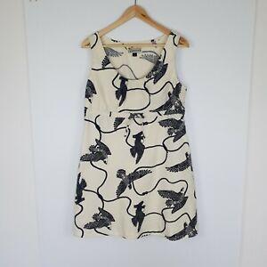 Patagonia Pataloha Women's Dress Pockets Sleeveless Bird Print Hawaiian Size 8