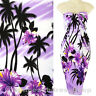 Coconut Hawaii Luau Sarong Pareo Skirt Dress Wrap Cover-up Beach Purple sa172v