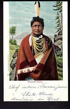 INDIEN un chef indien Faucon jaune YELLOW HAWK états unis