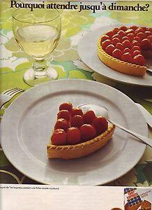 PUBLICITE ADVERTISING 034 1971 TART EXPRESS  fond de tarte 1