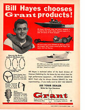 1966 BILL HAYES DRAG BOAT ~ ORIGINAL GRANT PISTON RING AD