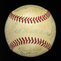 1958 All Star Game Team Signed Baseball Mickey Mantle Ted Williams PSA DNA COA