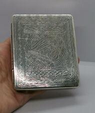 Antique Islamic Damascus Persian  STERLING SILVER CIGARETTE Box