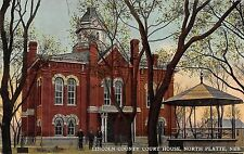 North Platte Nebraska view of Lincoln County Court House antique pc (Z10744)