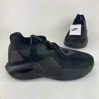 New Nike Lebron Soldier 14 GS Youth Triple Black Basketball Mid Athletic Shoes