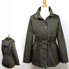 M&S Lightweight, Stormwear PARKA / ANORAK with HOOD ~ Size 14 ~ KHAKI