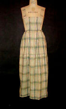 ANTIQUE VICTORIAN / EDWARDIAN HOUSE or WORK DRESS, BIB FRONT, WOVEN MADRAS PLAID