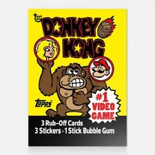 DONKEY KONG 1982 TOPPS 80th Anniversary Wrapper Art Card #20 #Topps #DonkeyKong