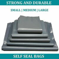50x All Sizes Strong Grey Mailing Bags Parcel Postage Plastic Poly Self Seal UK