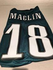 MENS JEREMY MACLIN #18 RETRO PHILADELPHIA EAGLES SEWN GREEN REEBOK JERSEY XL