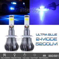 10000K Ultra Blue 881 LED Driving Fog Light Bulb Replacement Lamp Bright Blink