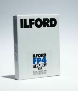 "Ilford FP4 Plus Black and White Negative Film 4 x 5"" 25 Sheets FRESH  #1678279"