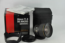 Sigma 28mm f/1.8 EX DG Macro Lens - Canon full-frame boxed