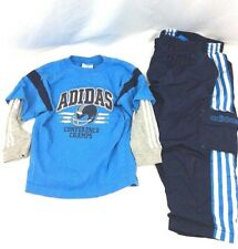 Pre-owned adidas Boys 2 Piece Long Sleeve Shirt and Pants Set 36 Months (B#3)