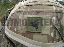 British Army VCRO backed Pegasus Airborne Helmet Patch OG Subdued 16AA 4x4cm SML