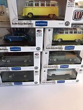M2 Machines VW Set Of 7 With 1959 VW Microbus Deluxe Chase VW05