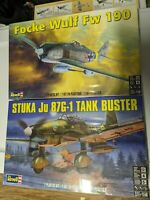Revell 1/48 Luftwaffe Bundle STUKA Ju-87G-1 Tank Buster (5270) and FW-190 (5271)